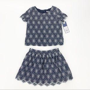 Genuine Kids Oshkosh Matching Set Denim Top/Skirt
